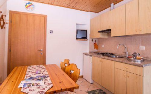 Zona cucina dei nostri alloggi